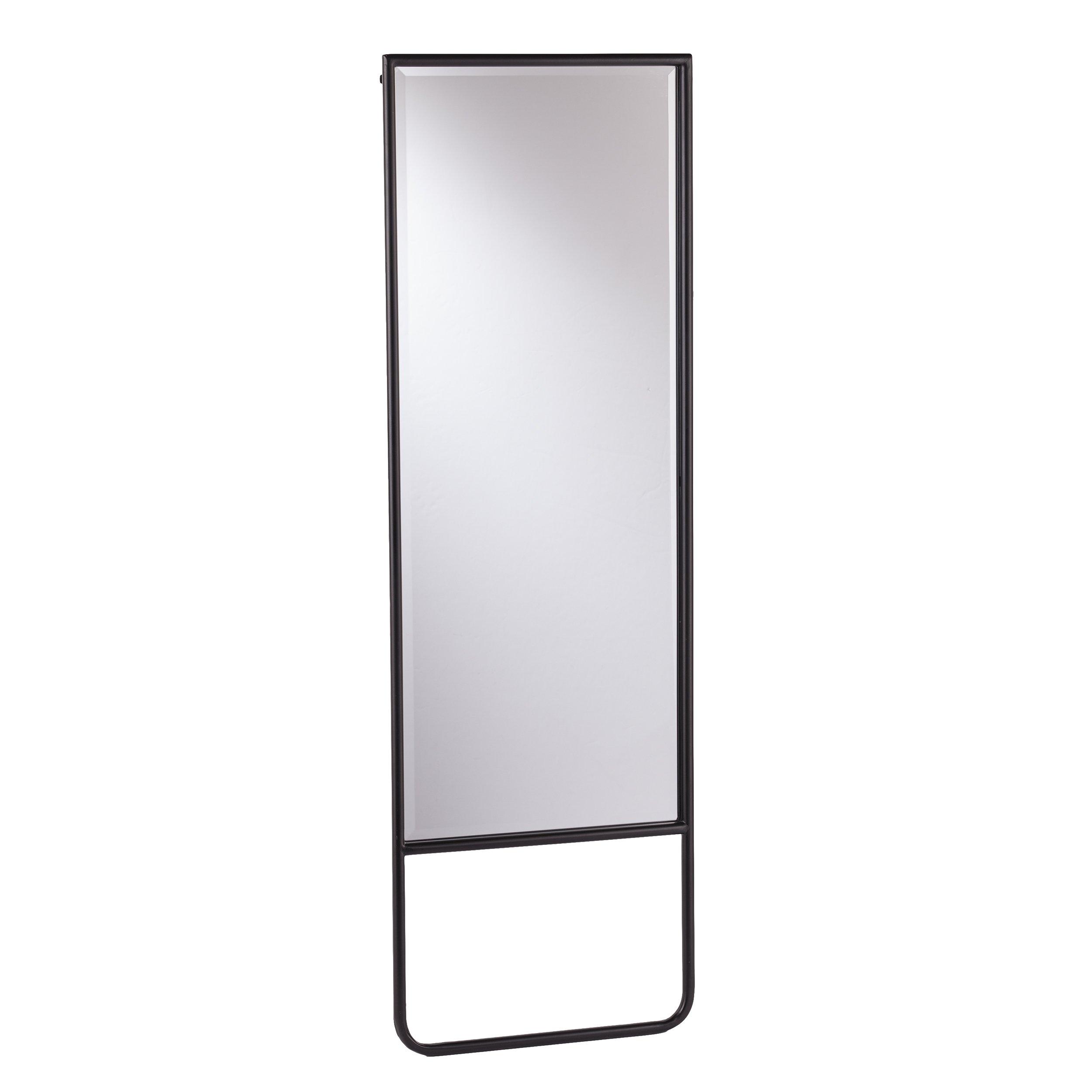 Holly & Martin – Lewis Leaning Black Floor Mirror - 20'' W x 1'' D x 62'' H