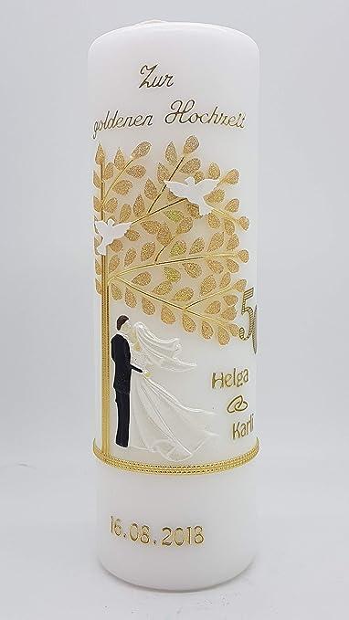 Kerze Goldene Hochzeit Mit Namen Datum Gh 24