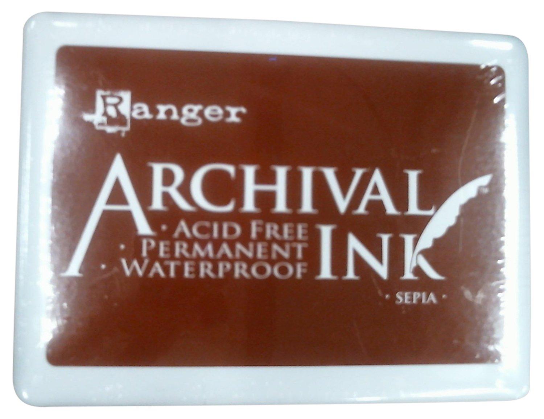 Ranger A3P-6725 Archival No.3 Jumbo Inkpad, Sepia