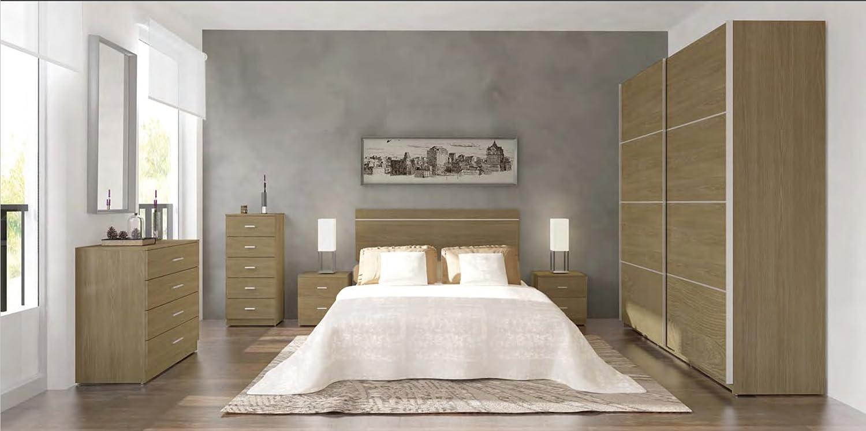 Armario ropero color roble 180x220cm de 2 puertas correderas, mueble ...