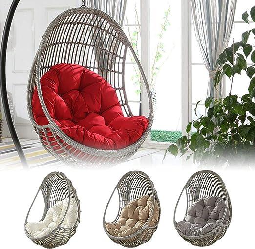 90x120cm Mississ Altalena appesa Carrello Ammortizzatore di sede Addensare Hanging Egg Chair Amaca Pad Impermeabile Ammortizzazione sede della Sedia per Patio Giardino