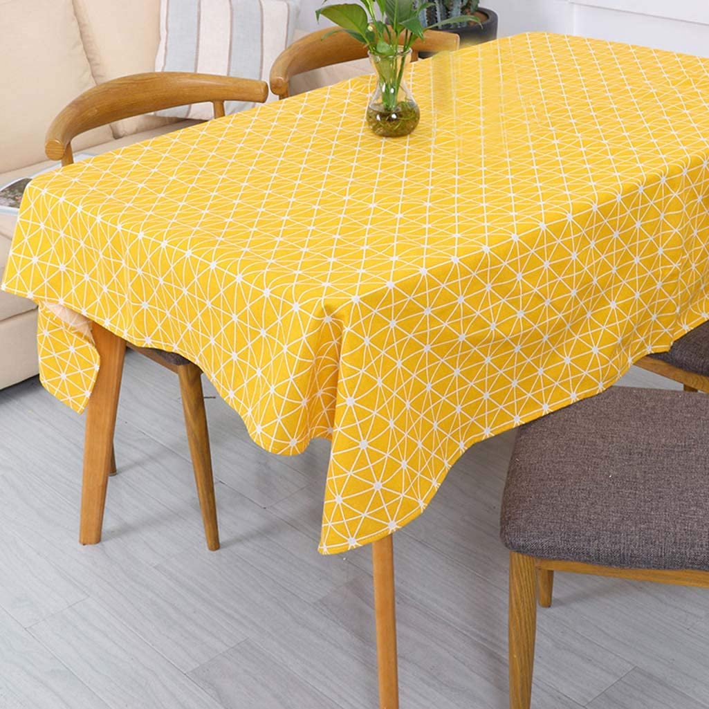 Jizzr Geometric Arrow Square Tablecloth Cotton Linen Table Cover Dust-Proof Camping Picnic Table Cloth for Buffet Table Kitchen Dining Room Christmas Party Decoration Gray 24 x 24 Set of 2