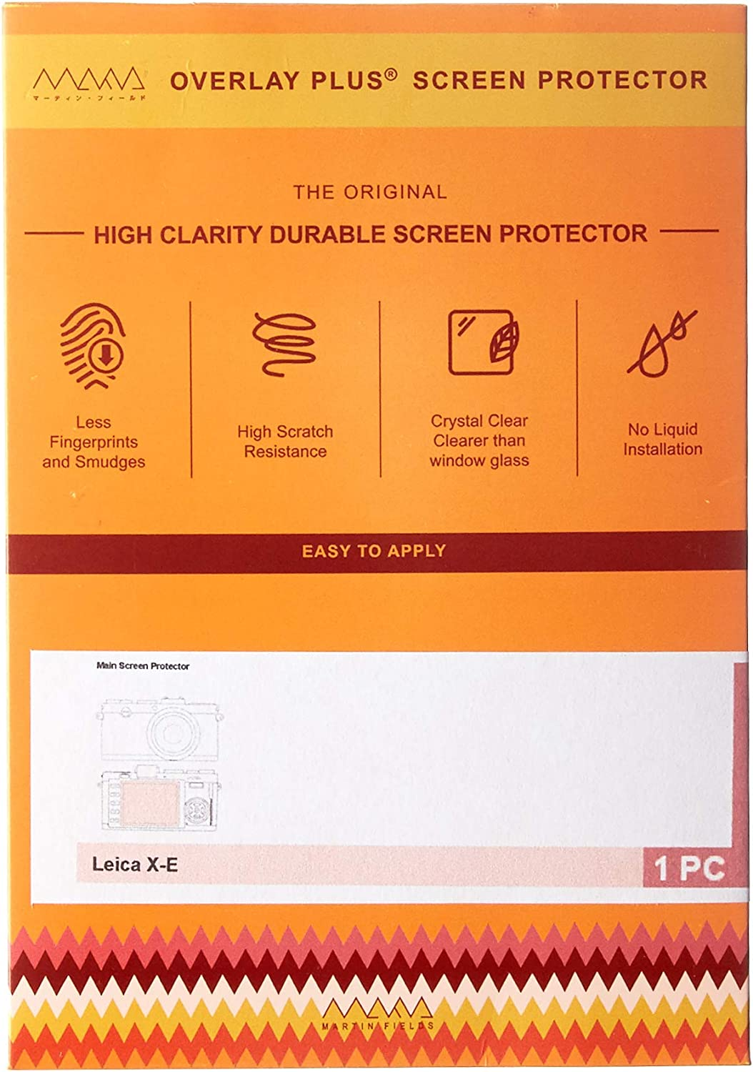 Martin Fields Overlay Plus Screen Protector with Advanced Glass Hard Coating for Leica M9 M8