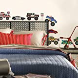 RoomMates SPD0004SCS New Speed Limit - Trucks Peel and Stick Wall Decals, Multicolor