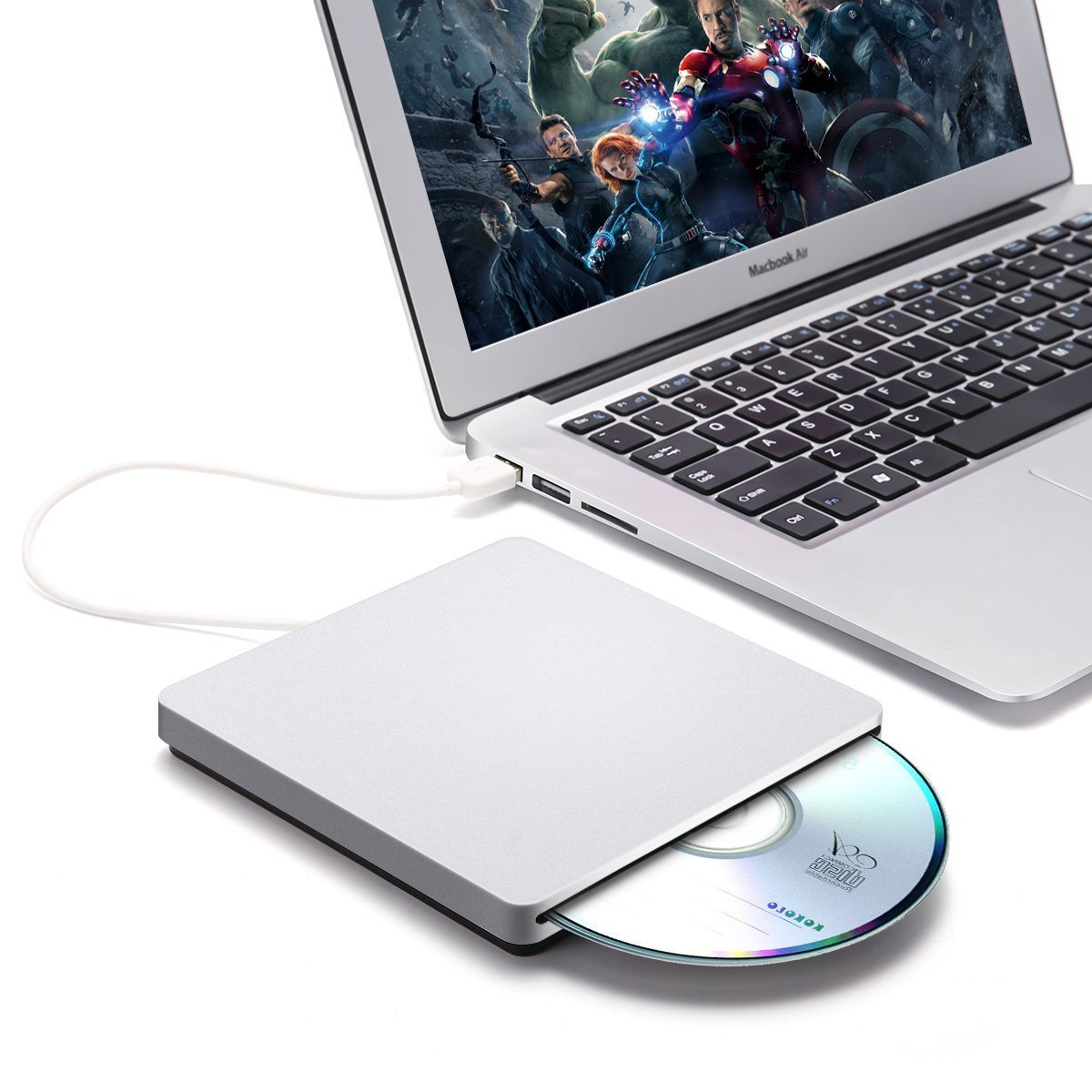 External CD DVD Drive,ONCHOICE USB 2.0 External Disc Optical Drive, Slim CD/DVD-RW Writer Player Burner for Windows OS, Laptop Desktop PC