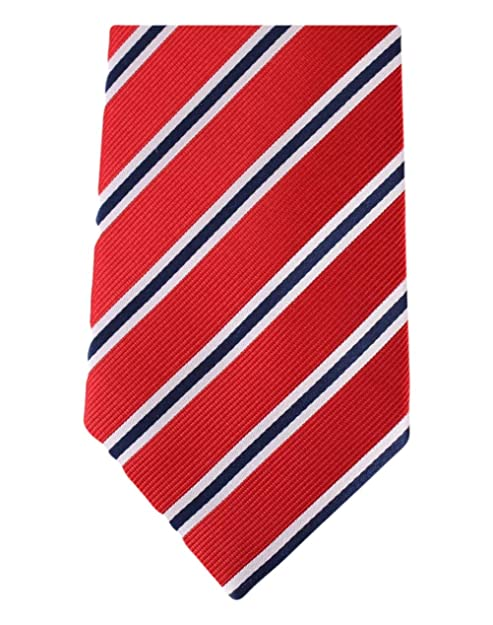 David Van Hagen Corbata roja/azul marino/blanco del Regimiento de ...