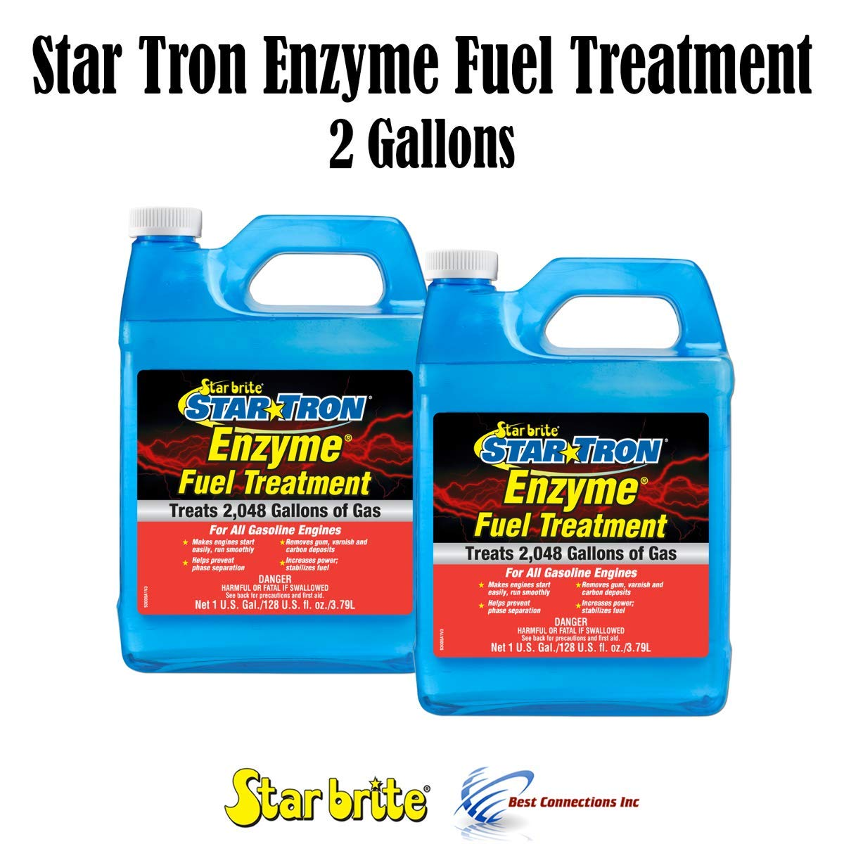 Star Brite Star Tron Enzyme Fuel Treatment Gas 2 Gallons Treats 4096 Gallons by Star Brite