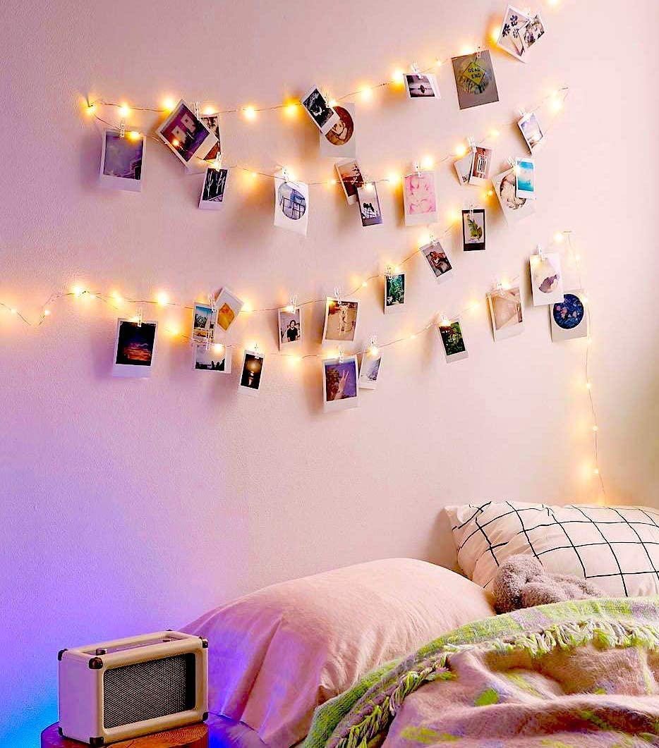 Amazon Com Ezdc 20 Led Photo Clip String Lights Fairy Lights With Clips Lights With Clips For Pictures Polaroid Lights With Clips For Bedroom Dorm Room Decoration Garden Outdoor