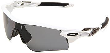 Oakley Herren Sonnenbrille Radarlock, silver/ice iridium vented & persimmon vented path, OO9181-03