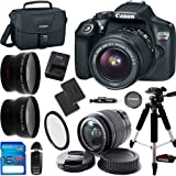Canon EOS Rebel T6 DSLR Camera w/ EF-S 18-55mm f/3.5-5.6 IS II Lens - Deal-Expo Advanced Accessories Bundle