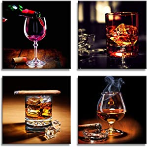 Win A Free Kitchen Decorations Coffee Decor Wine Cup Cigar Pictures...