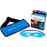 Reusable Hot and Cold Gel Ice Pack - Therapy Cold Body Wrap for Muscle Pain Back Shoulder Knee Pain Relief for Injuries Recovery Plus Gel Eye Mask