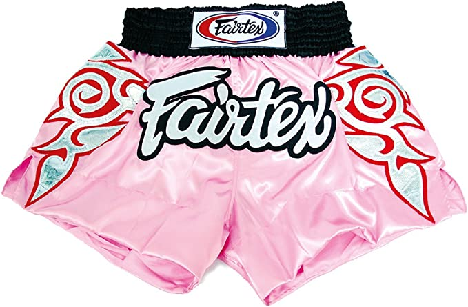 Fairtex Muay Thai Boxing Shorts Satin Size Black Red Blue White Yellow Pink Green S M L XL Color