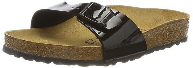 Birkenstock Madrid, Unisex-Adults Sandals, Black (Black Lack), 5 UK (38 EU)
