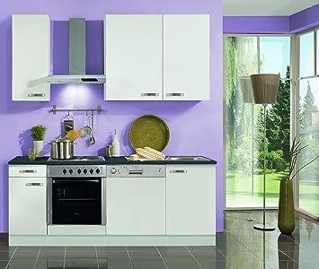 idealShopping Küchenblock mit Elektrogeräten Lagos in weiß 210 cm ...