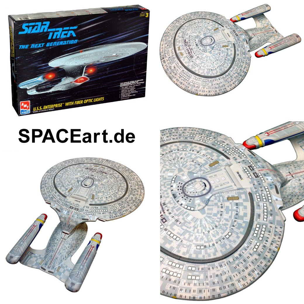 Star Trek the Next Generation Enterprise Model Kit with Fiber Optics Lighting System B000VWLYX4