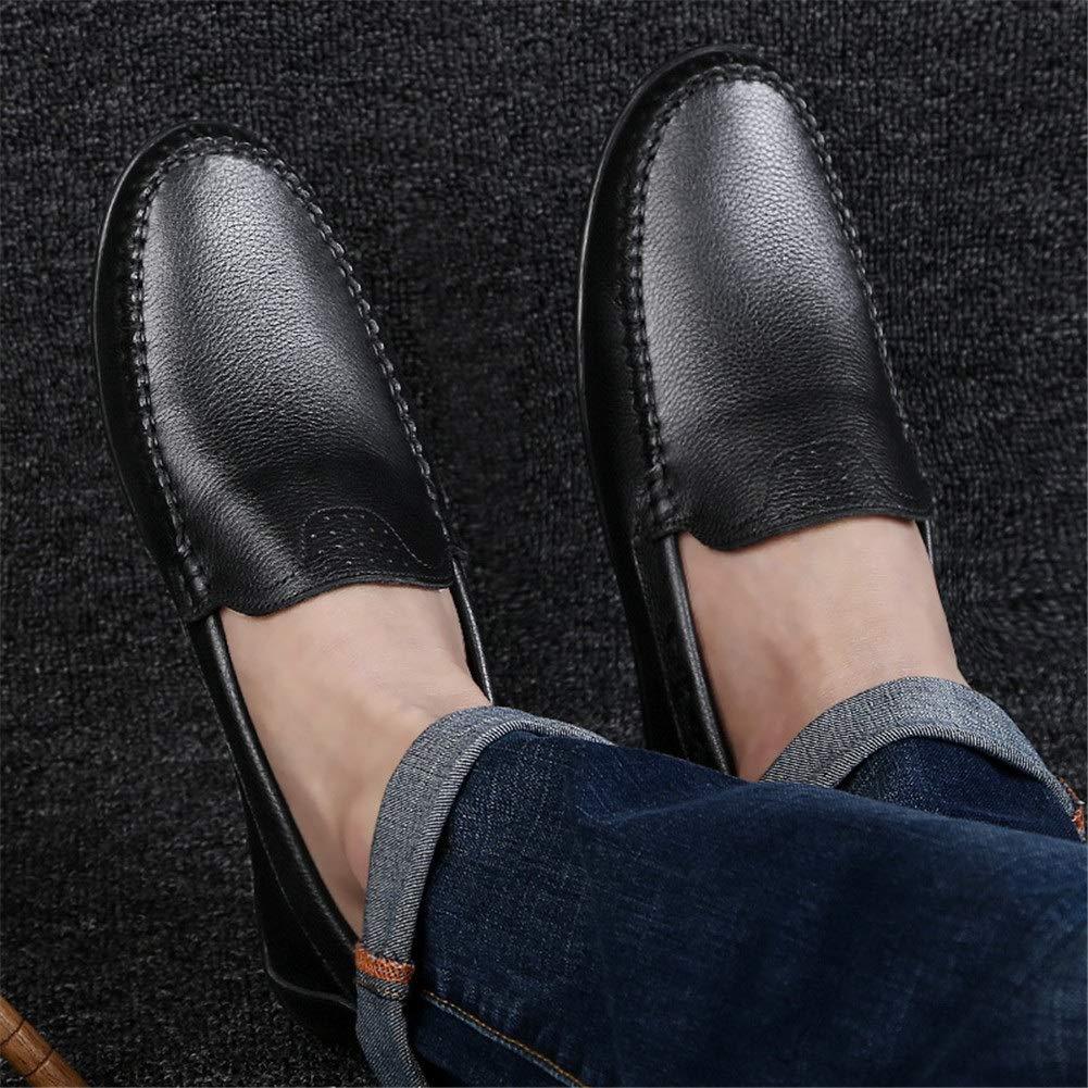 Herren Freizeitschuhe, Atmungsaktive Herren Lederschuhe Casual Business Business Business Einzelne Schuhe Überschuhe Weiche Untere Mode Schuhe Männliche Koreanische Version (Farbe   EIN, Größe   40) 3f0de9