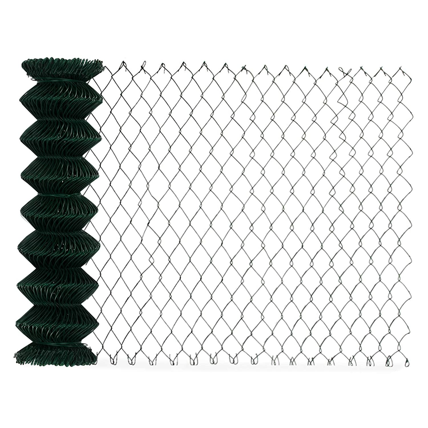 1.25 m (H) x 25 m (L) casa pura Heavy-Duty Mesh Fencing, PVC Coated, Green 1.25m x 25m   Commercial Grade   Multiple Sizes