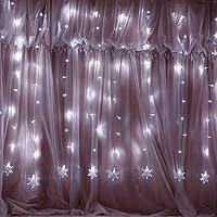 Guirlande lumineuses, Lumière de chaîne flocon de neige Noël 2M, Guirlande de Noël lumineuse 100 LEDs, Idéal pour Fêtes Noël Mariage Soirée Maison Jardin Intérieur et Extérieur