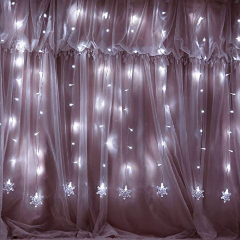 Snow Fairy Lights, 2M String Lights with 10 Snowflakes, 8 Modes ...