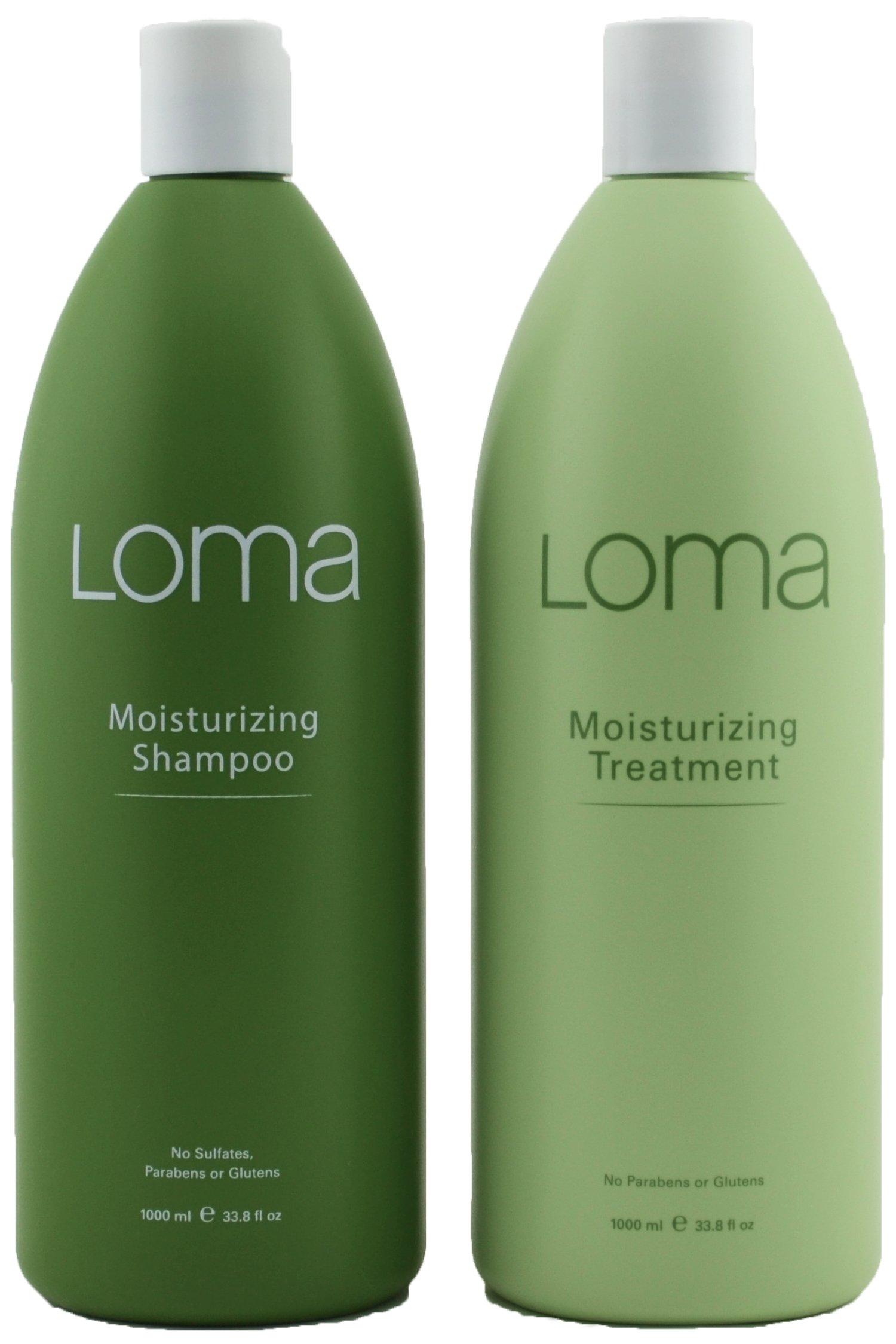 Loma Hair Care Moisturizing Shampoo Moisturizing Treatment Duo, 33 oz, Package may vary
