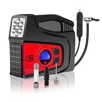 CXY Compresor de aire portátil digital con LED,bomba de compresor de aire portátil,