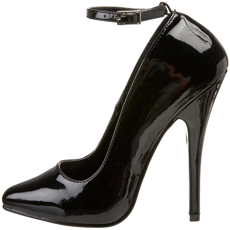 "Pleaser High Heel Black Patent 6/"" heel Ankle Strap Pump DOMINA-431//B"