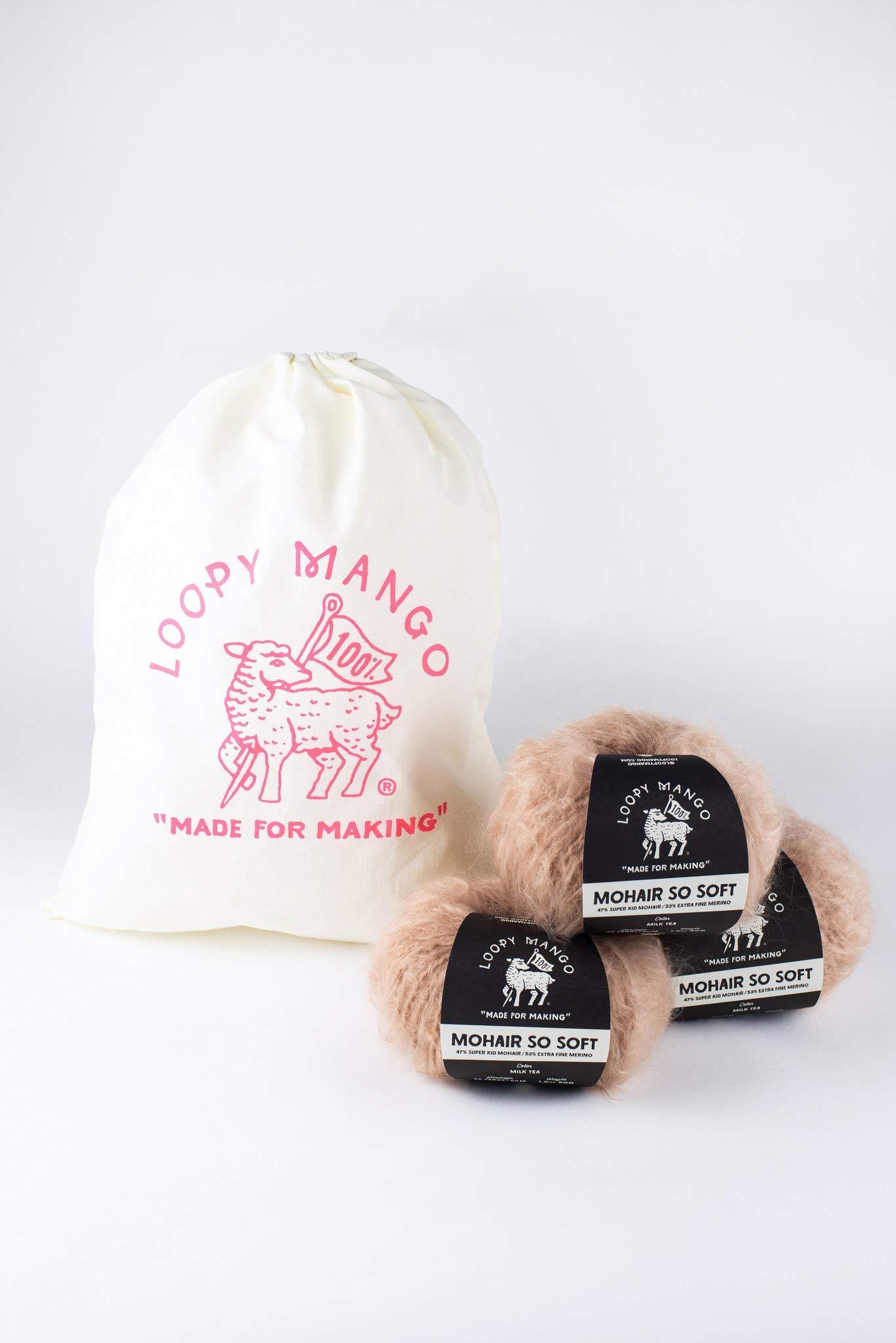 Loopy Mango DIY Knit Kit - Medium/Large Long Cardigan - Mohair So Soft (Moss) by Loopy Mango (Image #2)