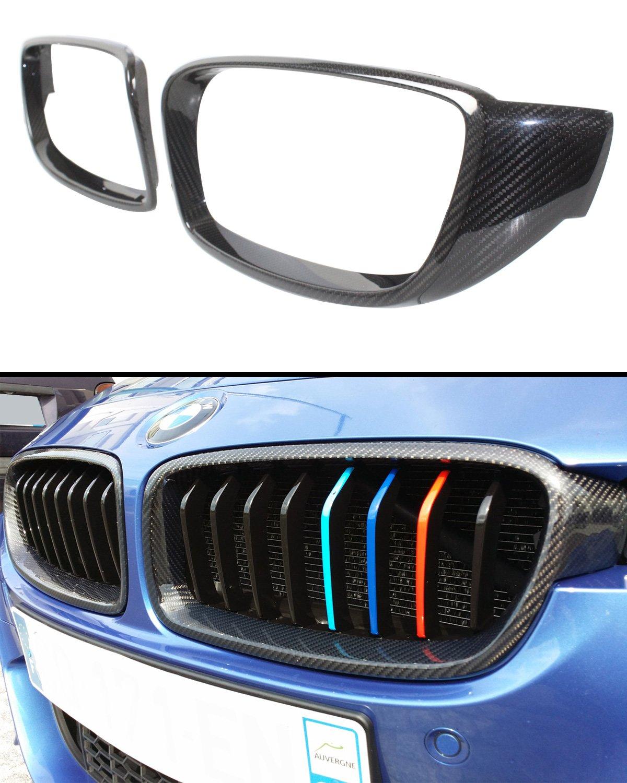FOR 2012-2018 BMW F32 F33 F36 4 SERIES & F82 F83 M4 CARBON FIBER KIDNEY GRILL INSERT TRIM COVER Cuztom Tuning