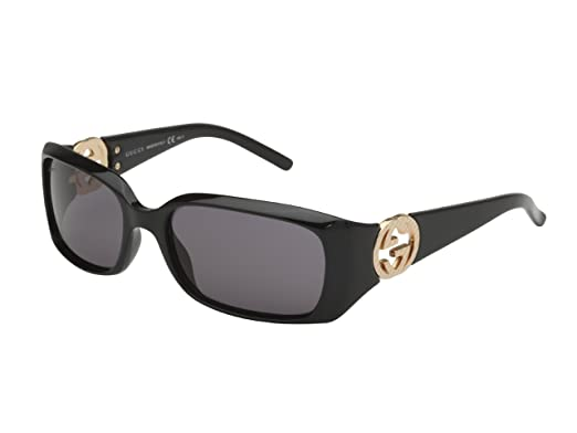c876d41f85 Gucci Sunglasses GG 3504  S D28BN Acetate plastic Black Grey  Amazon.co.uk   Clothing