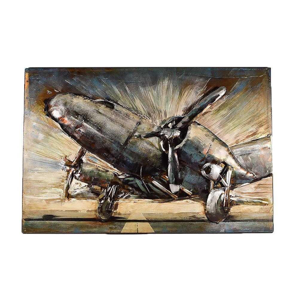 UniqueGift D/écoration Murale en Forme de Avions en m/étal Rustique Style Industriel