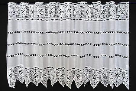 Come Vuole pu/ò Scegliere la Larghezza in segmenti da 12 cm Tendine Cucina Tenda della Finestra Farfalle Altezza 45 cm Colore: Bianco