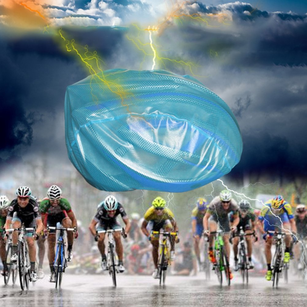 Aesy Casco de Ciclismo A Prueba de Viento Polvo Cubierta de Lluvia Impermeable MTB Road Bicicleta Ciclismo Casco Ultraligero Cubre
