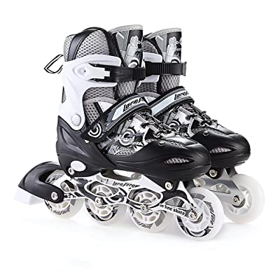 Sunkini Inline Skates Adjustable Sizes Padded Roller Skates for Childrens Women Male Roller Skate Set Skating Shoes Junior Girls Roller Shoes : Sports & Outdoors
