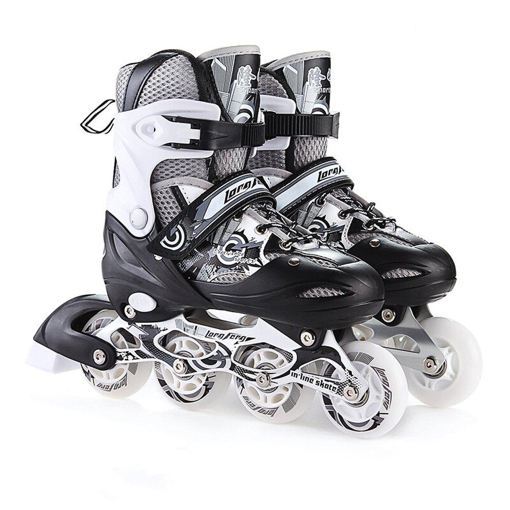 Vampsky インラインスケート調整可能なサイズ子供の女性のためのパッド付きローラースケート男性ローラースケートセットスケートシューズジュニアガールズローラーシューズ Large  B07PQQHFJZ