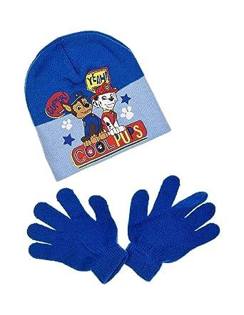 7d86b05ffae10 La Pat' Patrouille Bonnet et gants enfant garçon 3 coloris de 3 à 9ans -  Bleu, 54 cm (6-8 ans): Amazon.fr: Vêtements et accessoires