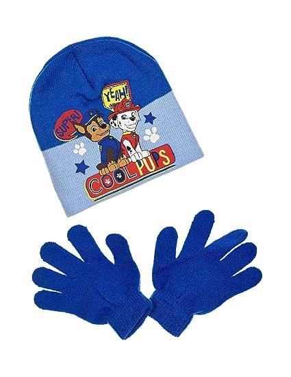 La Pat  Patrouille Bonnet et gants enfant garçon 3 coloris de 3 à 9ans -  Bleu, 54 cm (6-8 ans)  Amazon.fr  Vêtements et accessoires 3e50ef05273
