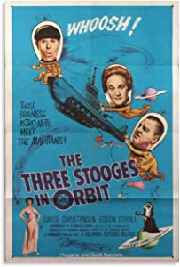 The Three Stooges in Orbit 0163 Vintage Movie Poster Canvas Wall Art Classic Movie Posters for Room Aesthetic Living Room Picture Print Home Decor 12x18inch(30x45cm)