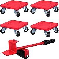 Hemobllo 5pcs Furniture Moving Kit Durable Furniture Lifter Heavy Furniture Slider Roller Move System Tools 360 Degree…