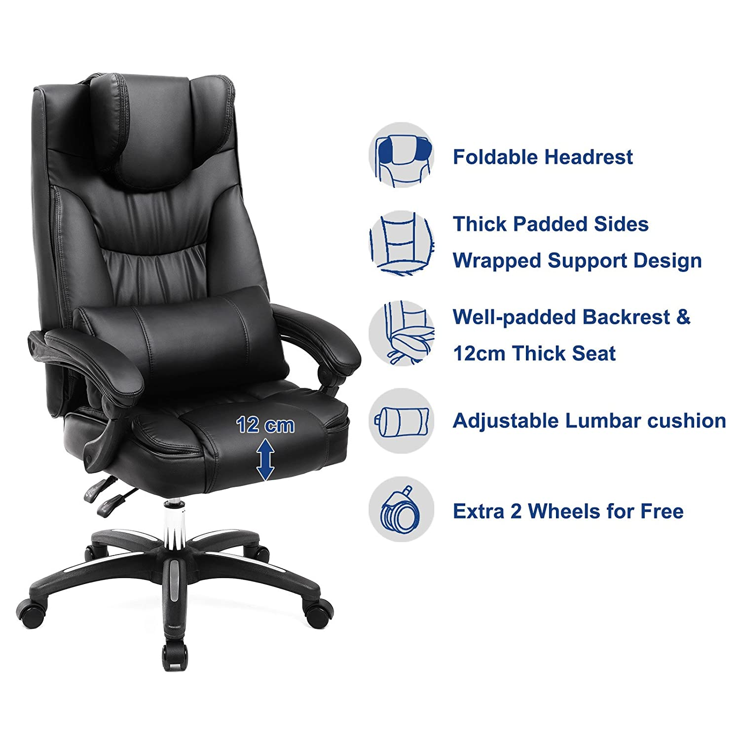 Amazon SONGMICS Extra fice Chair Executive Gaming