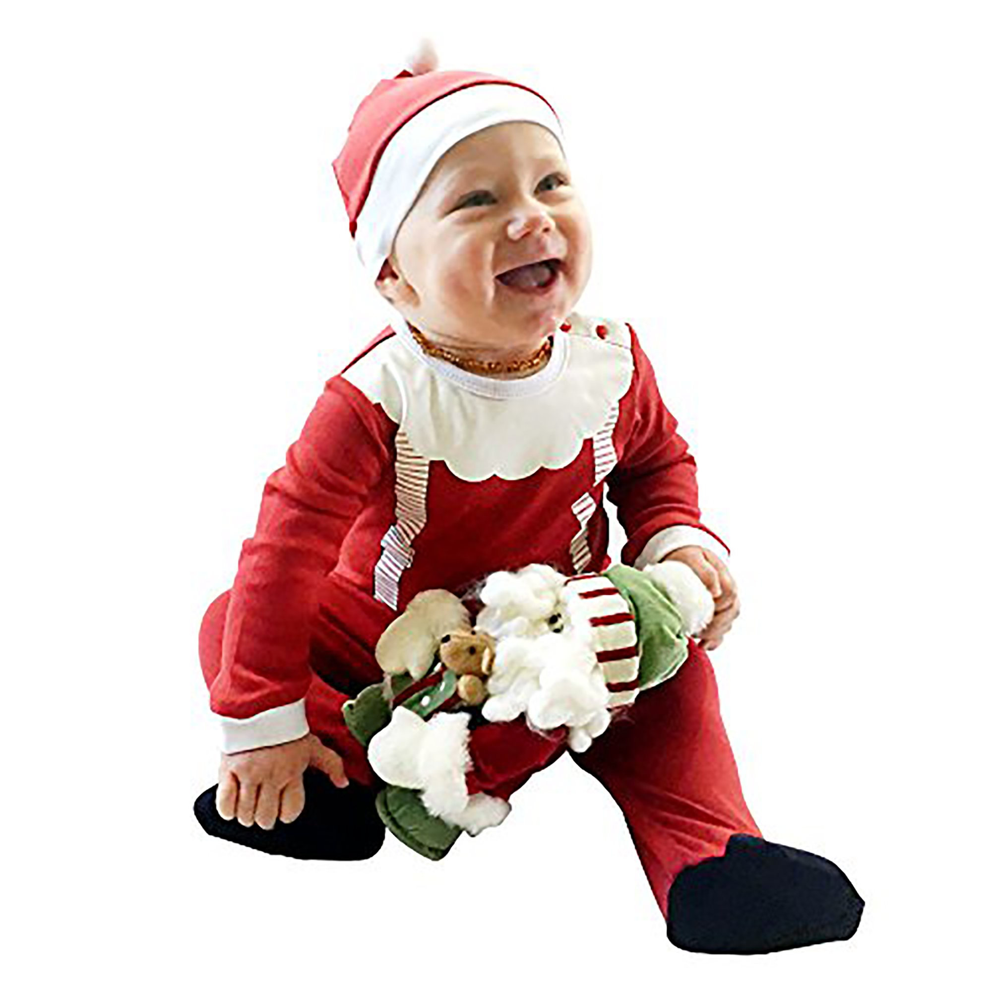 Fayfaire Christmas Pajamas Boutique Quality: Adorable Xmas Santa Suit with Hat 6-12M by Fayfaire (Image #7)