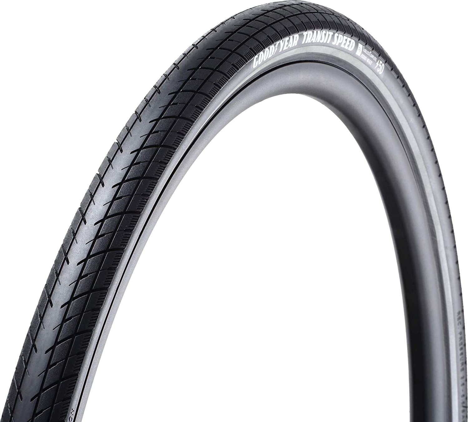 Goodyear Transit Speed Tire, 700x50C, Wire, Clincher, Dynamic:Silica4, S3: Shell, 60TPI, Black
