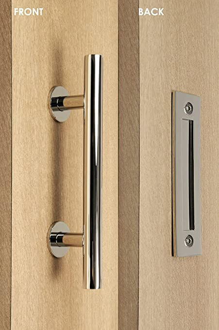 STRONGAR Modern And Contemporary Pull And Flush Door Handle  Set/Commercial/Residential Grade Stainless