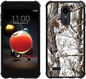 LG Aristo 2 Plus Case,LG Aristo 2/Tribute Dynasty/Zone 4/Fortune 2/Risio 3/Rebel 3 LTE/K8+ K8 Plus White Camo Case, ABLOOMBOX Slim Bumper Rubber Protective Case with Reinforced Corners