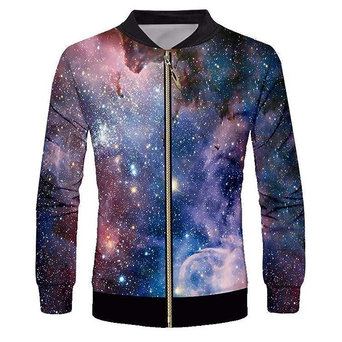 Chaquetas para Hombre 3D Starry Star Chaquetas Estampadas Hombre Full Zip Up Hip Hop Outwear Otoño Invierno Moda Hombre Streetwear Outwears: Amazon.es: Ropa ...
