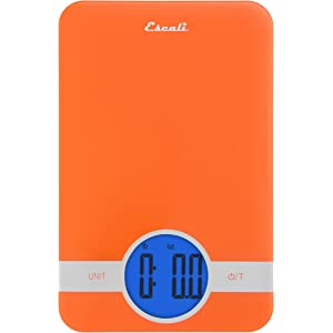 Escali Ciro C115B Blue Backlit Digital Display Table Top Scale, Tare Functionality, Liquid and Dry Measurements