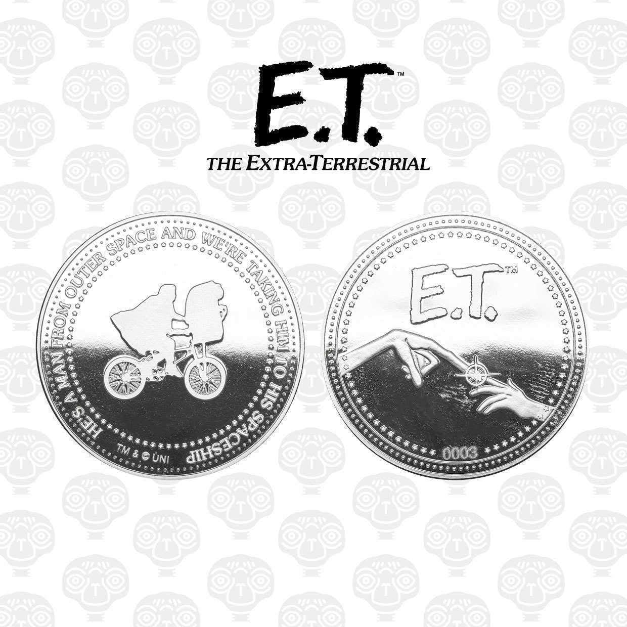 Silver Plated E.T Iron Publishing The Extra-Terrestrial Collectable Coin E.T.