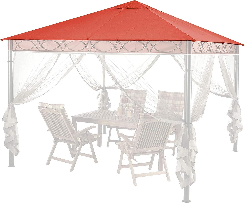 QUICK STAR - Techo de Repuesto para cenador (3 x 3 m), Color Rojo y Naranja: Amazon.es: Jardín