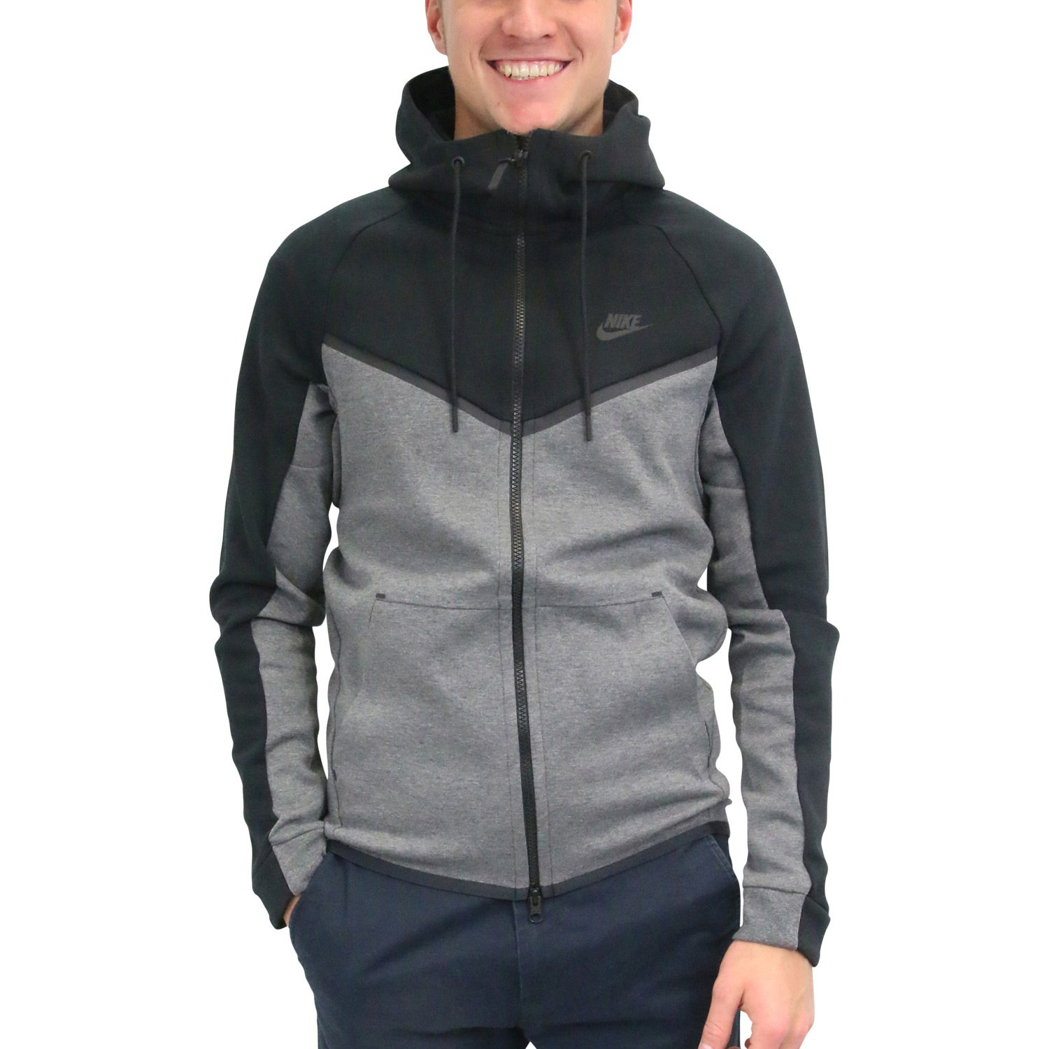 e77c4d84719b Galleon - Nike Mens Sportswear Tech Fleece Windrunner Hooded Sweatshirt  (Black Charcoal Heather