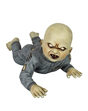 Halloween Zombie Baby Prop.Spirit Halloween Goryious Zombie Baby Static Prop Decorations